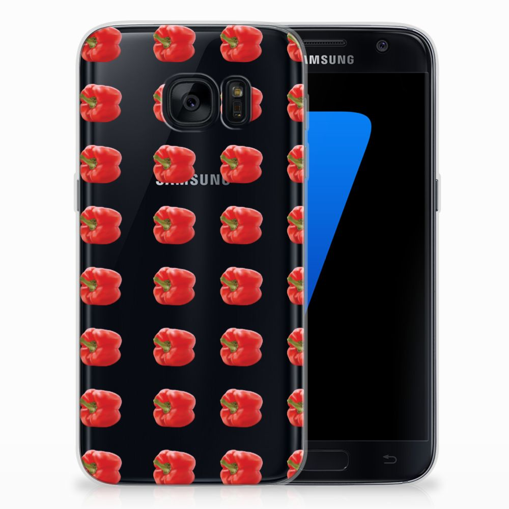 Samsung Galaxy S7 Siliconen Case Paprika Red
