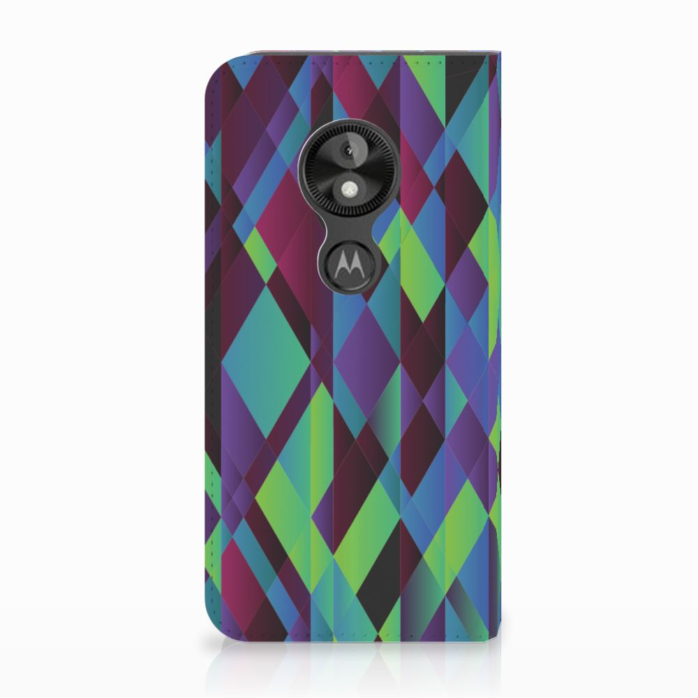 Motorola Moto E5 Play Stand Case Abstract Green Blue