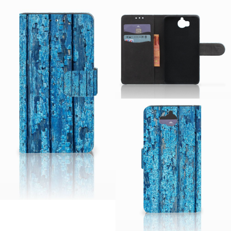 Huawei Y5 | Y6 2017 Book Style Case Wood Blue