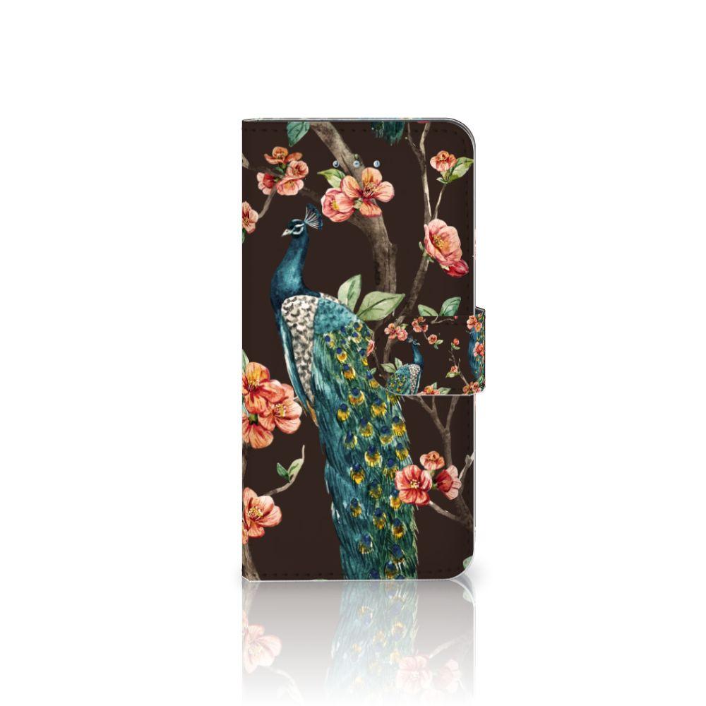 Honor 4A | Y6 Boekhoesje Design Pauw met Bloemen