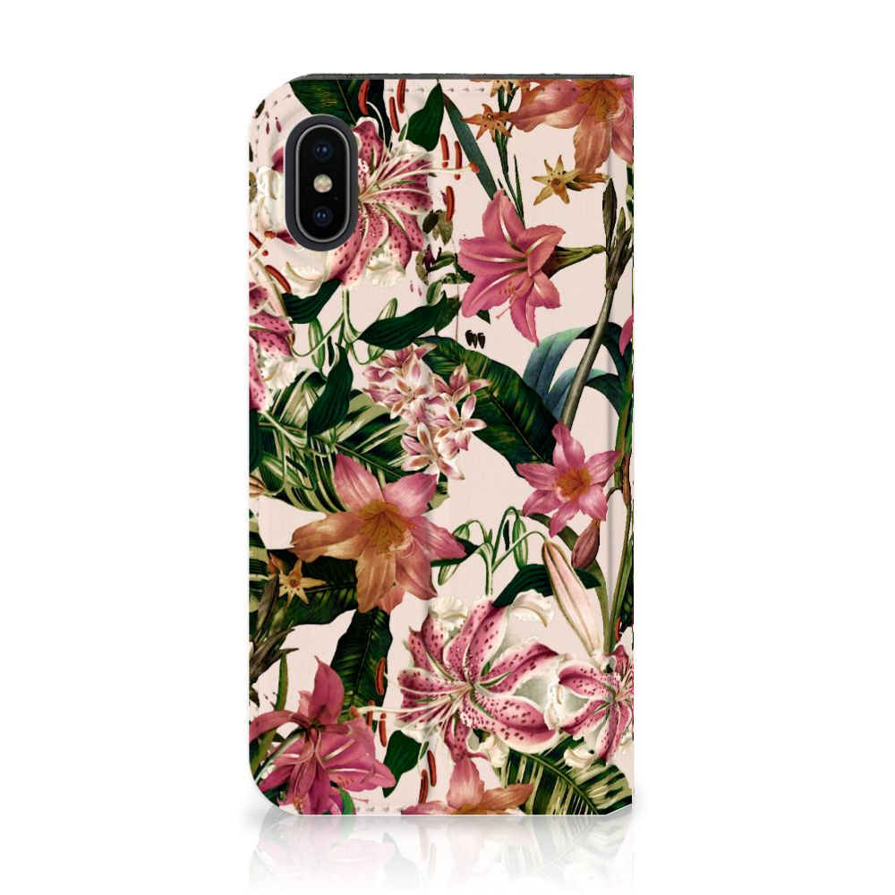 Apple iPhone X | Xs Uniek Standcase Hoesje Flowers