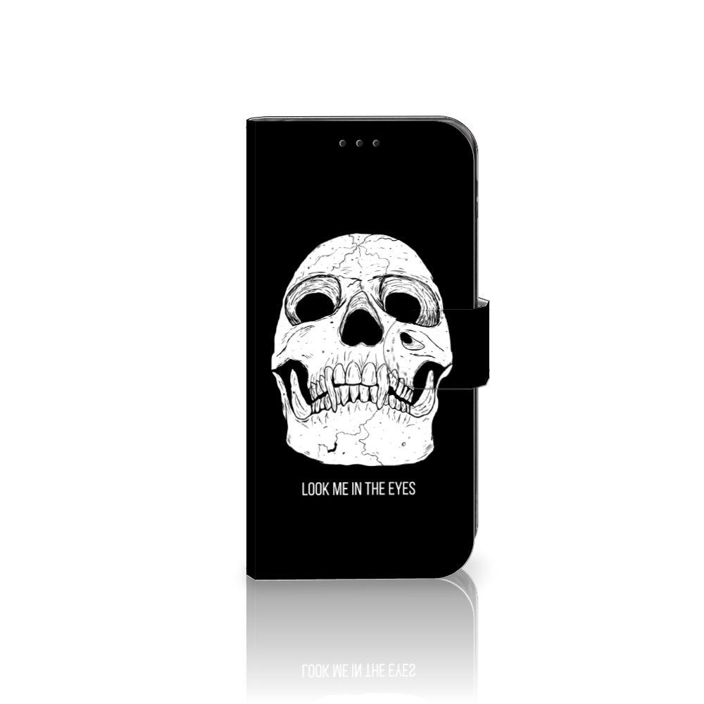 Telefoonhoesje met Naam Samsung Galaxy J5 2017 Skull Eyes