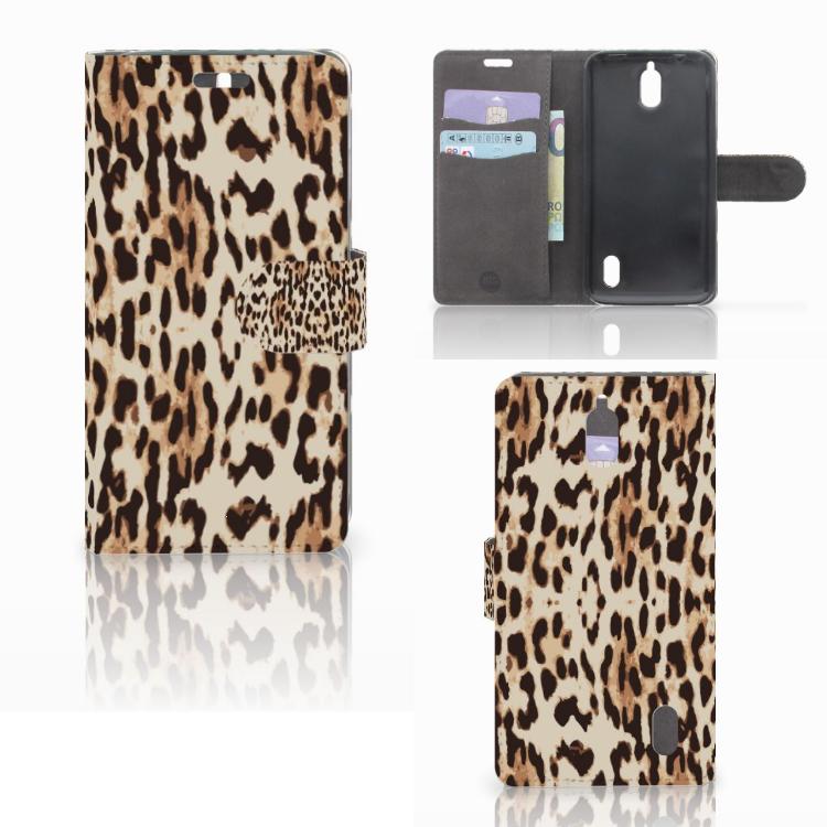 Huawei Y625 Telefoonhoesje met Pasjes Leopard
