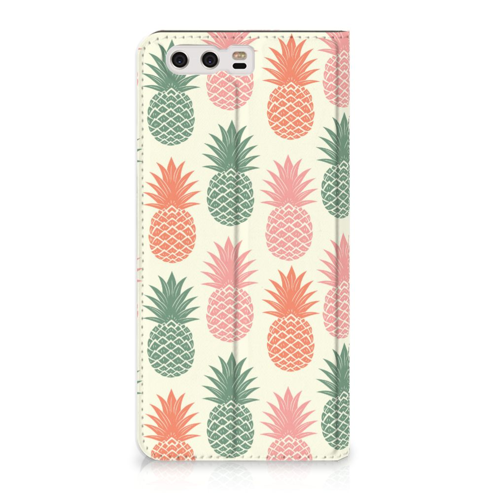 Huawei P10 Plus Standcase Hoesje Design Ananas