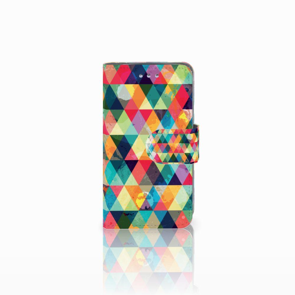 Samsung Galaxy S3 Mini Uniek Boekhoesje Geruit