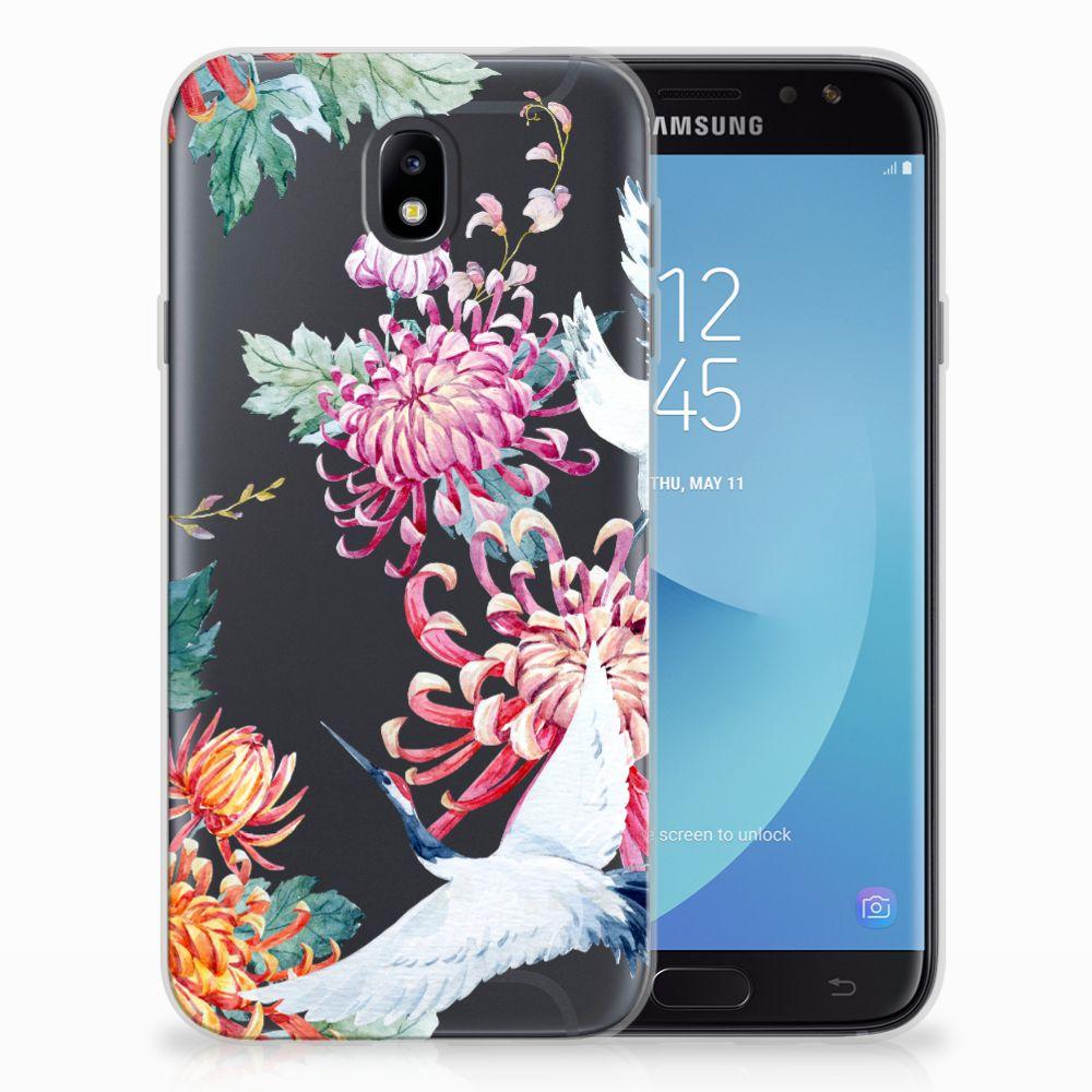 Samsung Galaxy J7 2017 | J7 Pro TPU Hoesje Bird Flowers