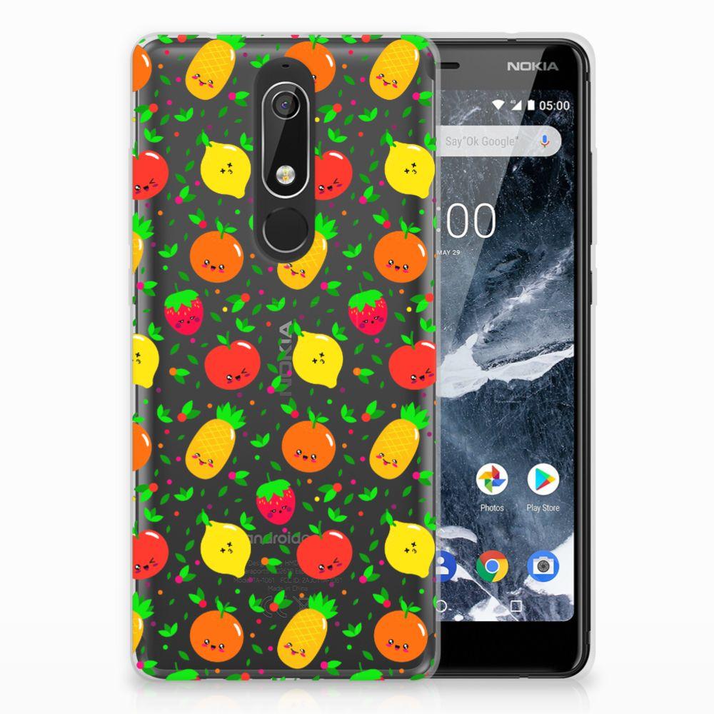 Nokia 5.1 (2018) TPU Hoesje Design Fruits