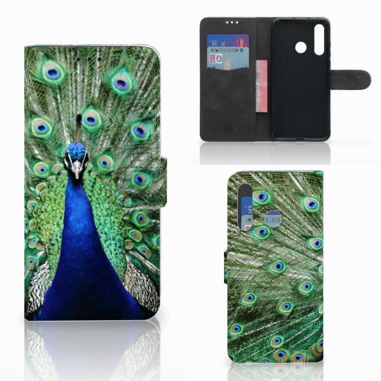 Huawei Nova 4 Telefoonhoesje met Pasjes Pauw