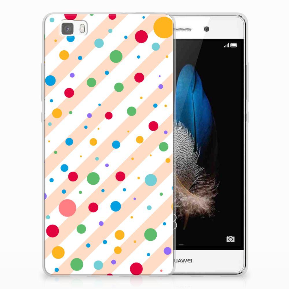 Huawei Ascend P8 Lite TPU Hoesje Design Dots