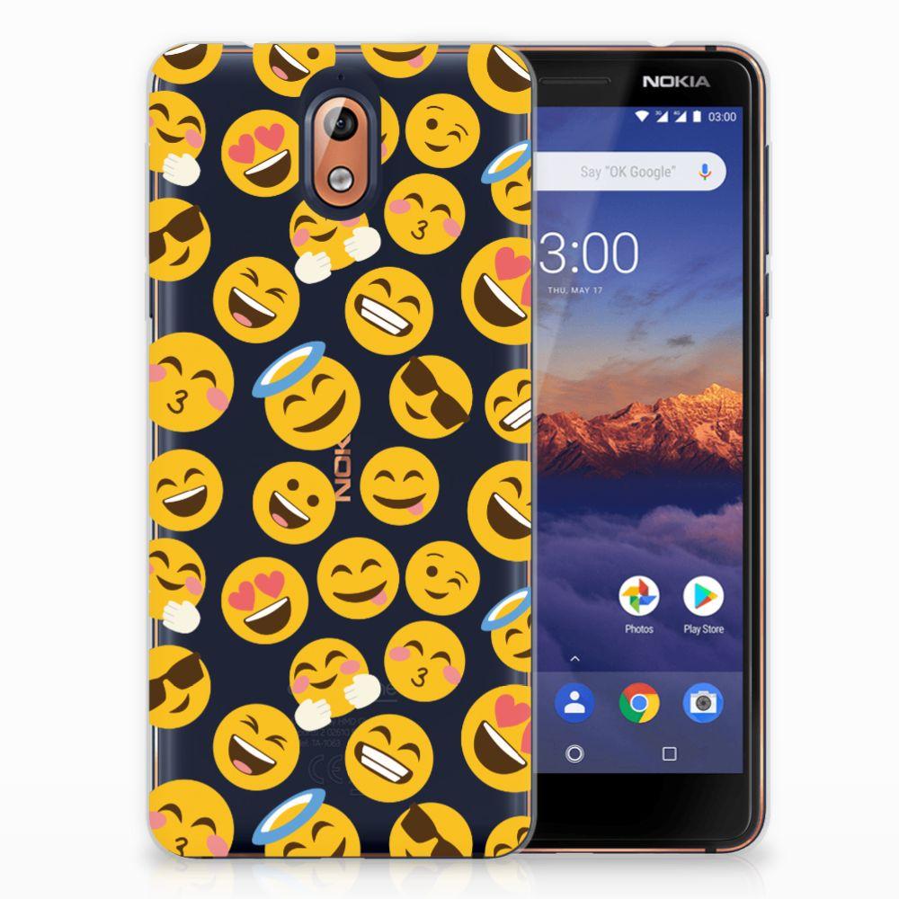 Nokia 3.1 (2018) TPU Hoesje Design Emoji