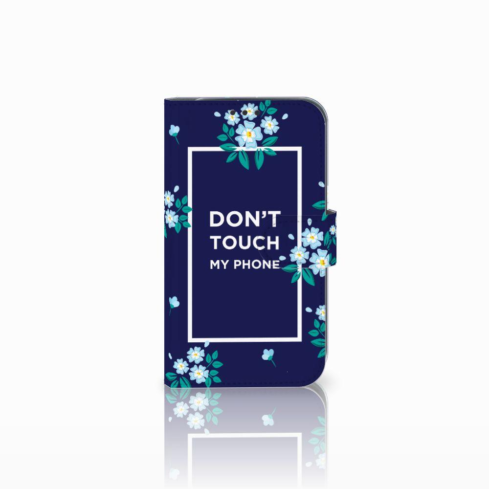 Samsung Galaxy Xcover 4 Boekhoesje Flowers Blue DTMP