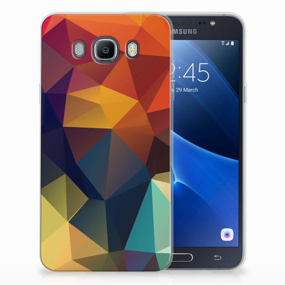 Samsung Galaxy J7 2016 TPU Hoesje Polygon Color