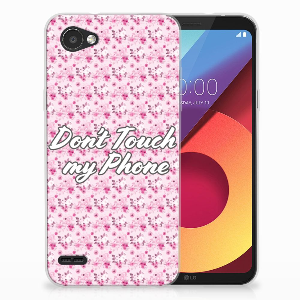 LG Q6 | LG Q6 Plus Uniek TPU Hoesje Flowers Pink DTMP