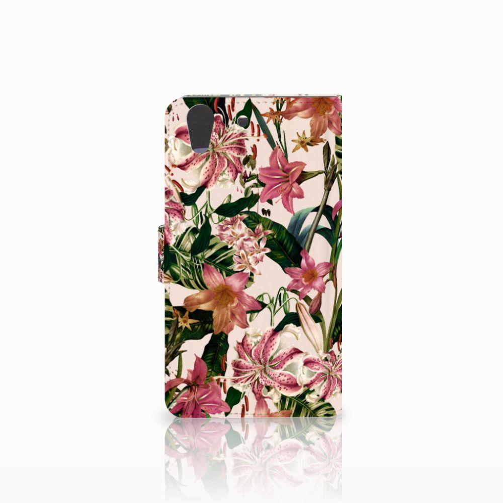 Huawei Y6 II   Honor 5A Hoesje Flowers