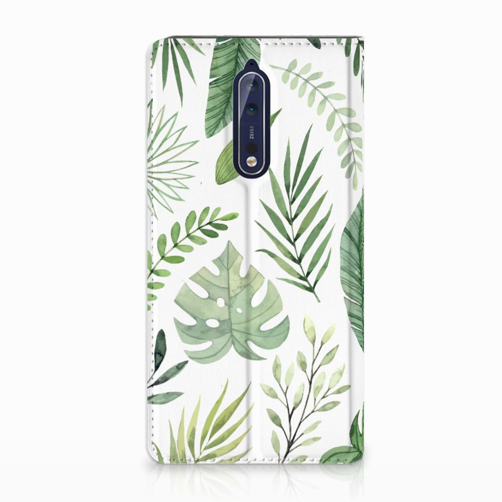 Nokia 8 Uniek Standcase Hoesje Leaves