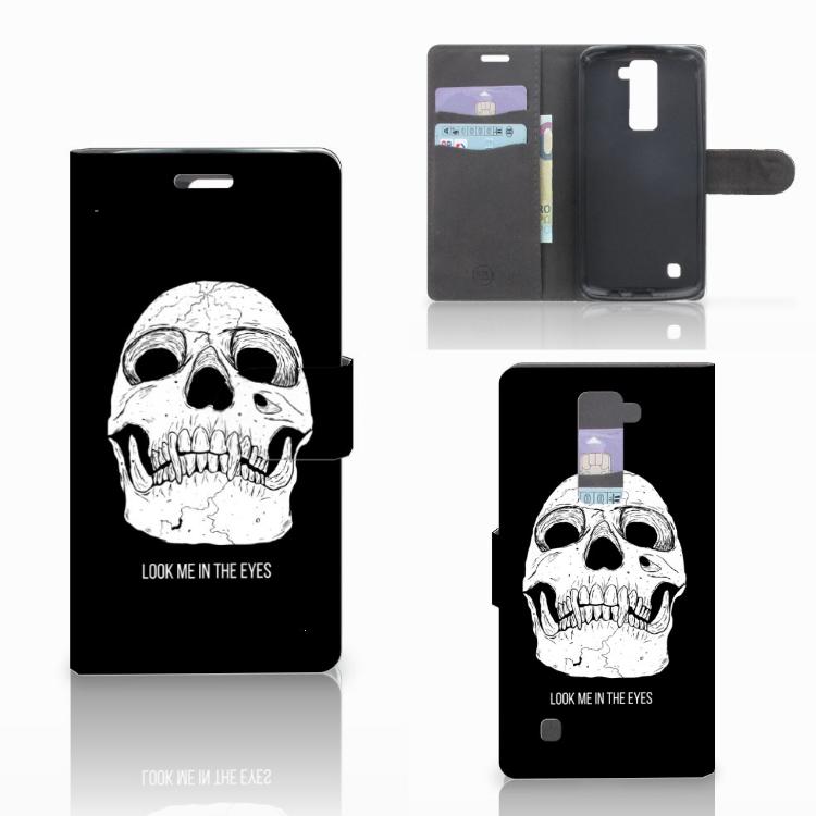 Telefoonhoesje met Naam LG K10 2015 Skull Eyes