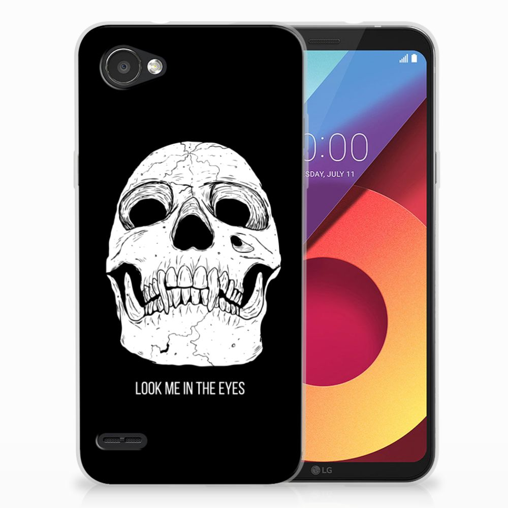 Silicone Back Case LG Q6   LG Q6 Plus Skull Eyes