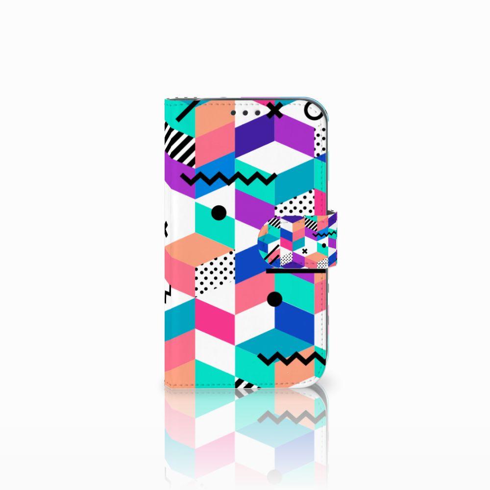 Samsung Galaxy Xcover 4 Boekhoesje Design Blocks Colorful