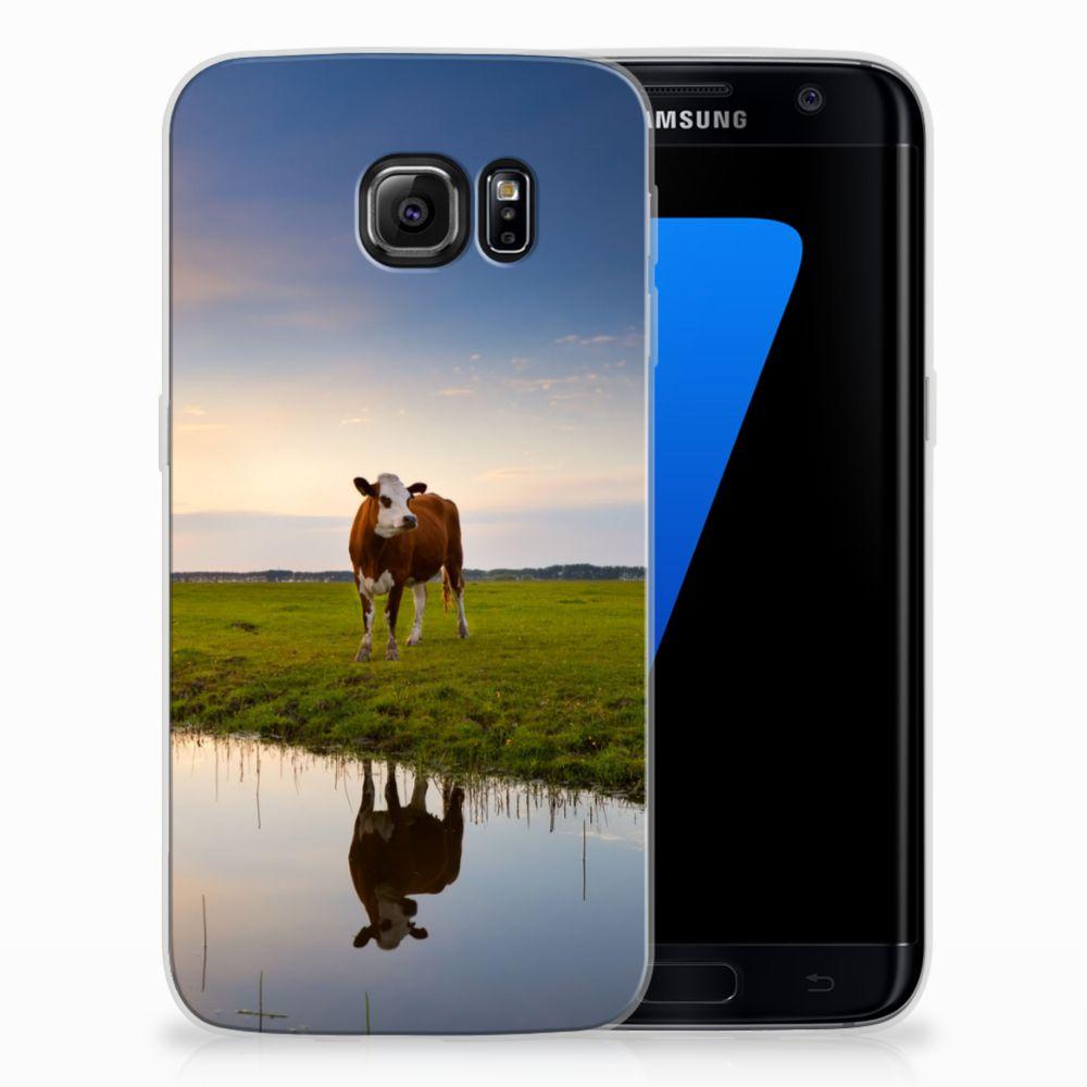 Samsung Galaxy S7 Edge TPU Hoesje Design Koe