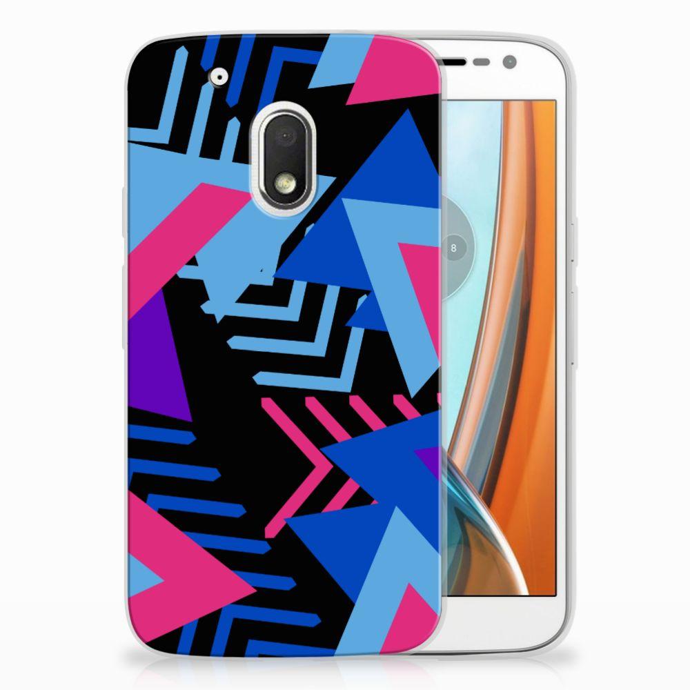 Motorola Moto G4 Play TPU Hoesje Funky Triangle