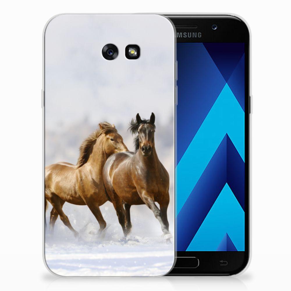 Samsung Galaxy A7 2017 Uniek TPU Hoesje Paarden