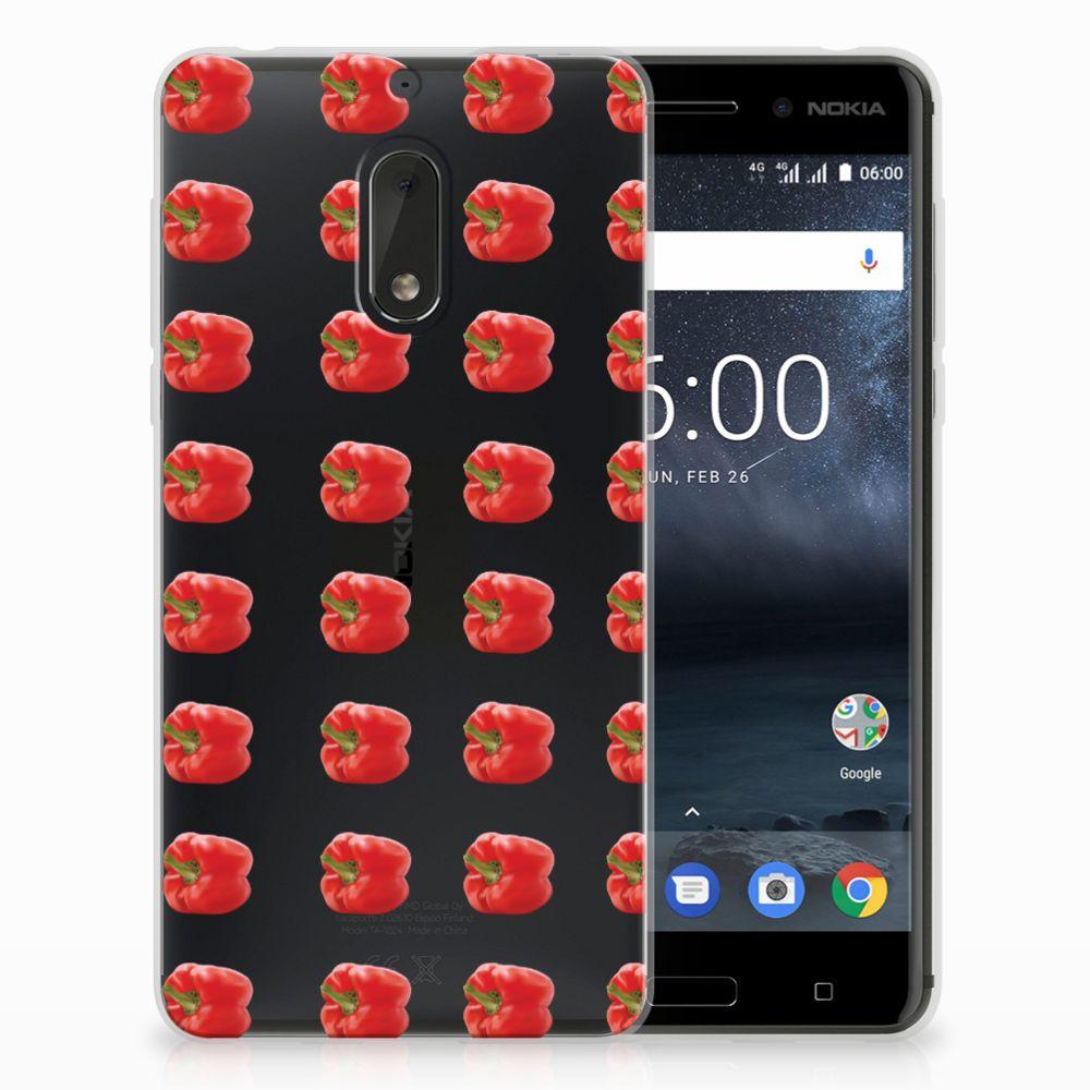 Nokia 6 Siliconen Case Paprika Red