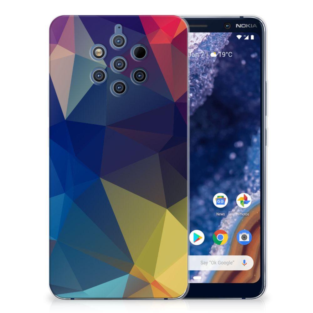 Nokia 9 PureView TPU Hoesje Polygon Dark
