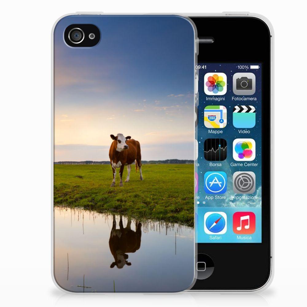 Apple iPhone 4 | 4s TPU Hoesje Design Koe