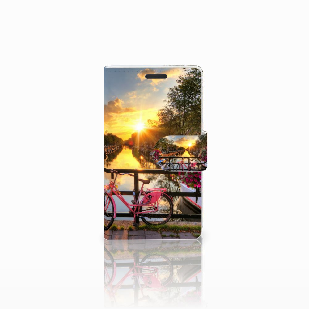 Microsoft Lumia 435 Uniek Boekhoesje Amsterdamse Grachten