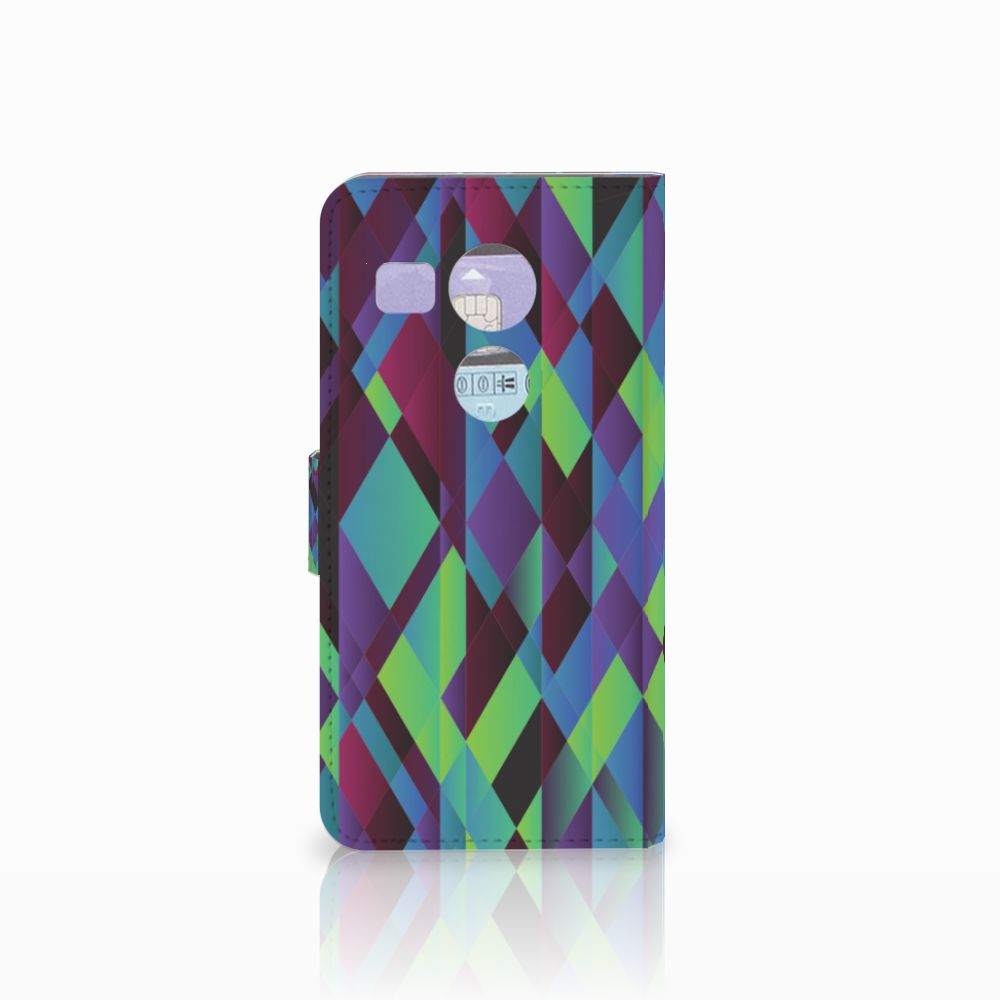 LG Nexus 5X Bookcase Abstract Green Blue