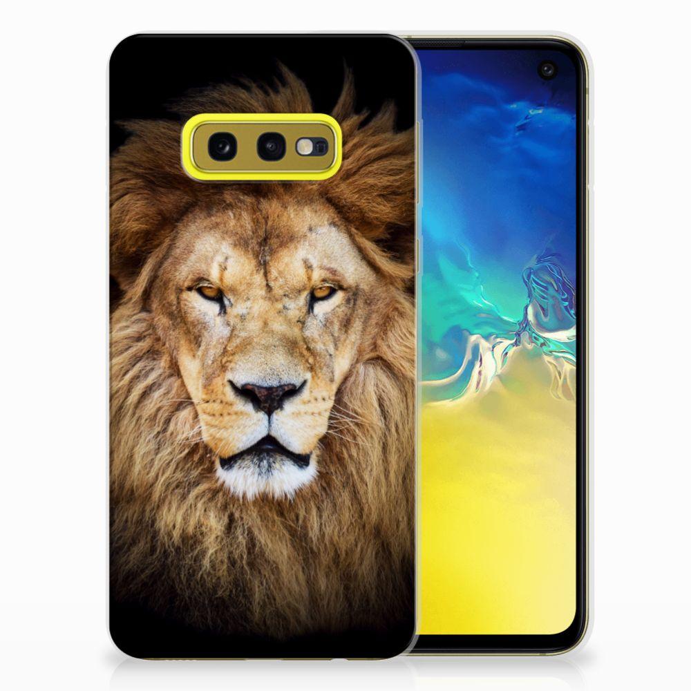 Samsung Galaxy S10e TPU Hoesje Leeuw