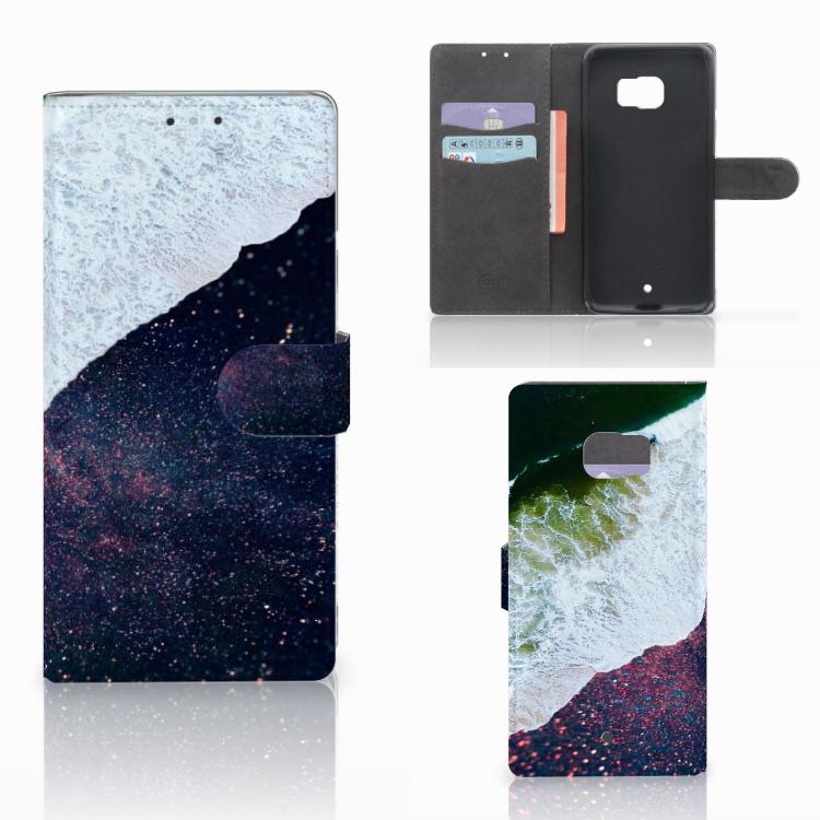 HTC U Ultra Bookcase Sea in Space