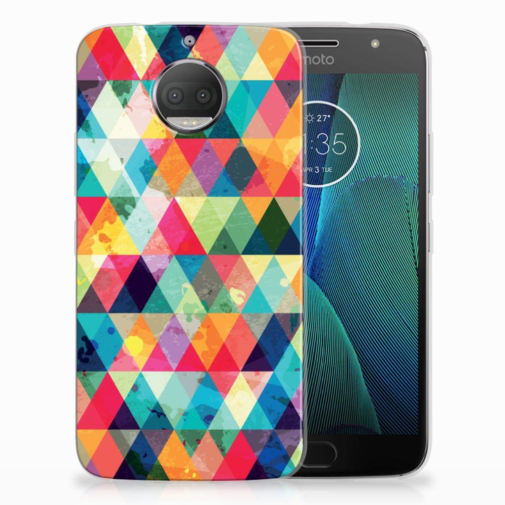 Motorola Moto G5S Plus Uniek TPU Hoesje Geruit