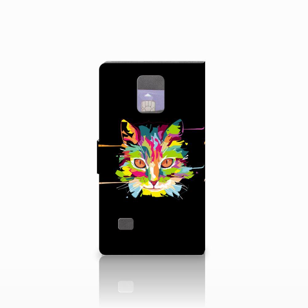Samsung Galaxy Note 4 Leuke Hoesje Cat Color