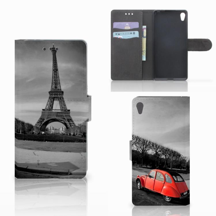 Sony Xperia E5 Flip Cover Eiffeltoren