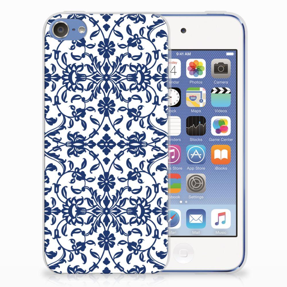 Apple iPod Touch 5 | 6 TPU Hoesje Flower Blue