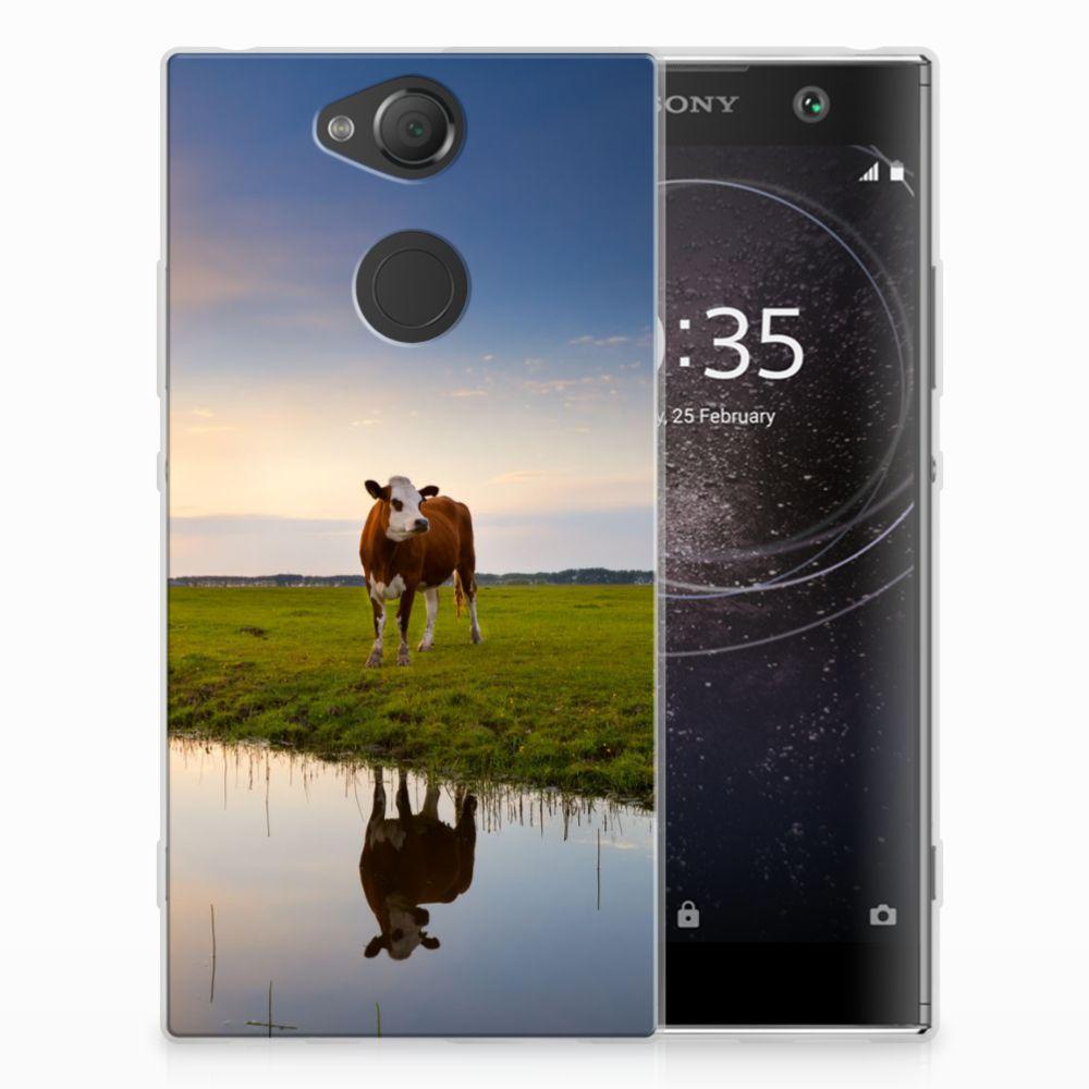 Sony Xperia XA2 TPU Hoesje Design Koe