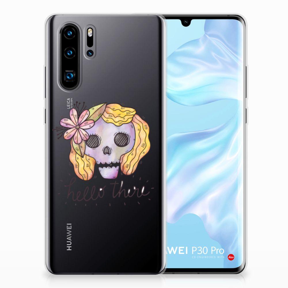 Huawei P30 Pro Uniek TPU Hoesje Boho Skull