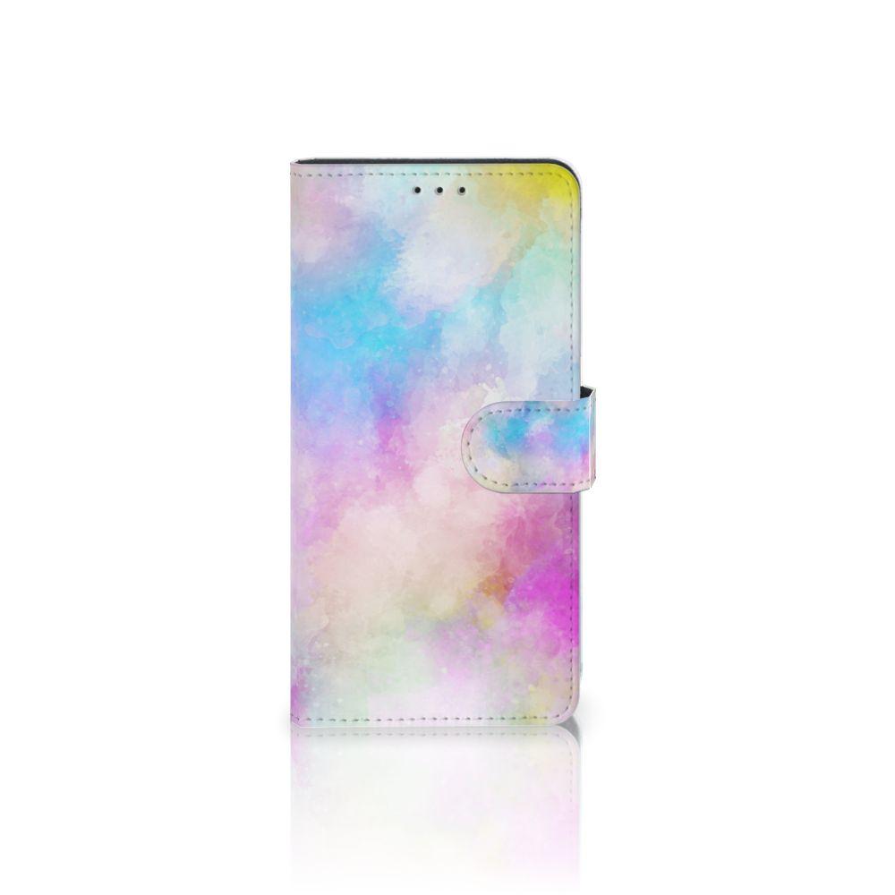 Samsung Galaxy A7 (2018) Uniek Boekhoesje Watercolor Light
