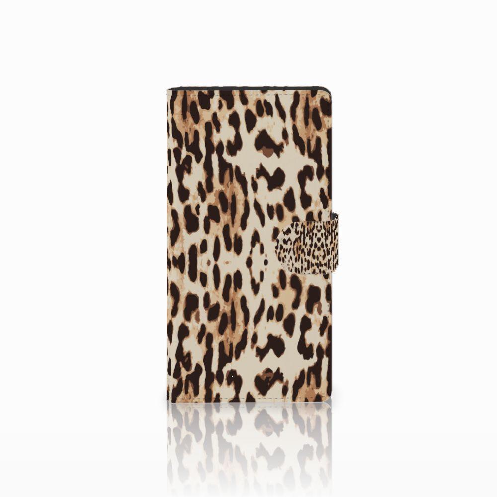 Sony Xperia C4 Uniek Boekhoesje Leopard