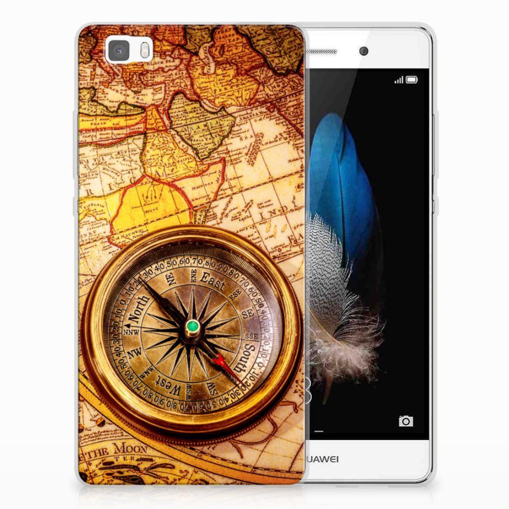 Huawei Ascend P8 Lite Siliconen Back Cover Kompas