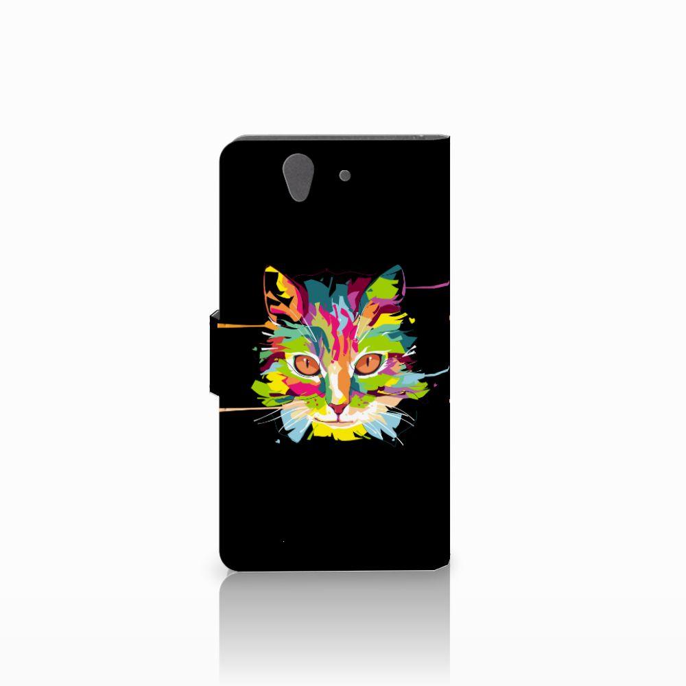 Sony Xperia Z Leuke Hoesje Cat Color