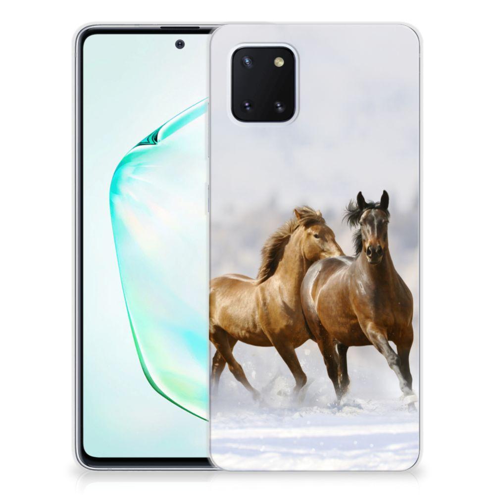 Samsung Galaxy Note 10 Lite TPU Hoesje Paarden