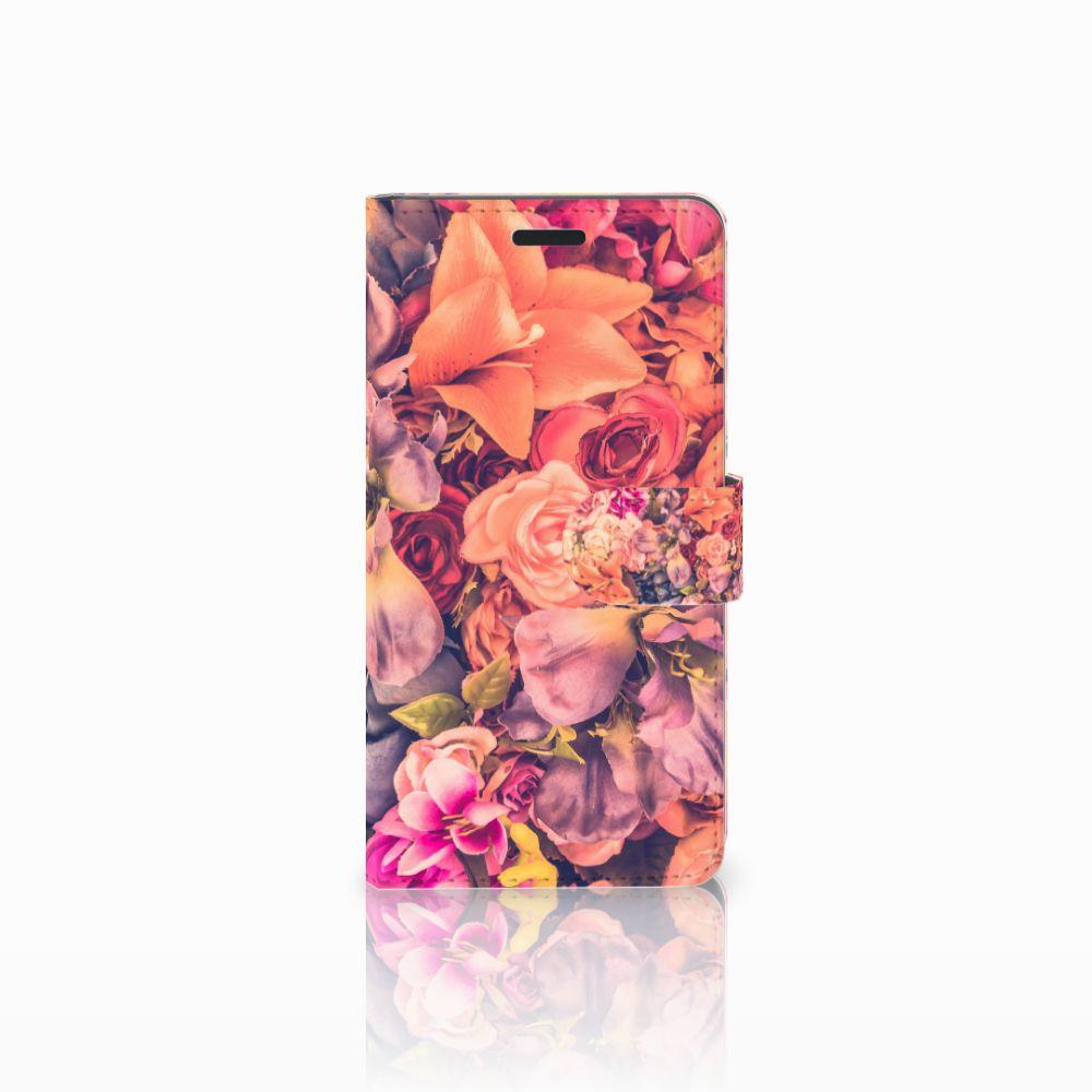 Samsung Galaxy A7 2015 Boekhoesje Design Bosje Bloemen