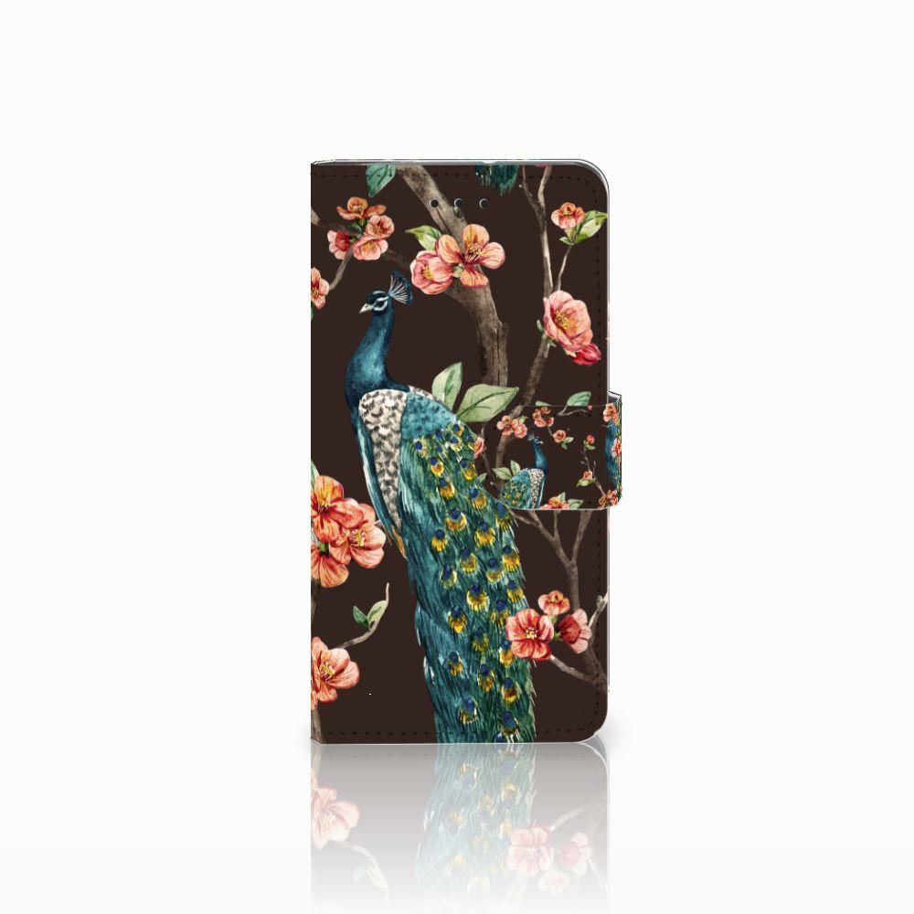 Motorola Moto G7 Play Boekhoesje Design Pauw met Bloemen