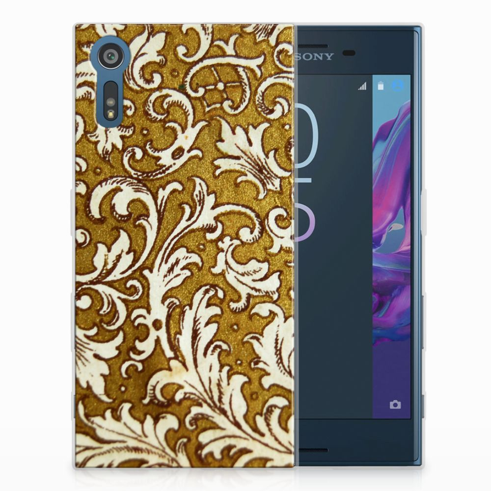 Sony Xperia XZs | XZ TPU Hoesje Design Barok Goud