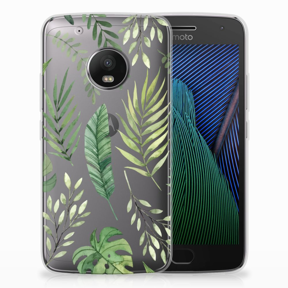 Motorola Moto G5 Plus Uniek TPU Hoesje Leaves
