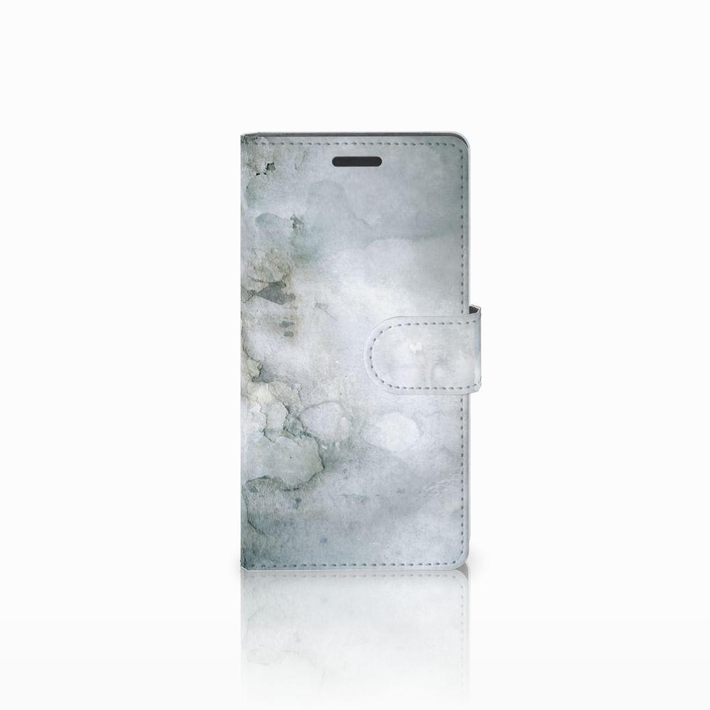 Nokia Lumia 830 Uniek Boekhoesje Painting Grey