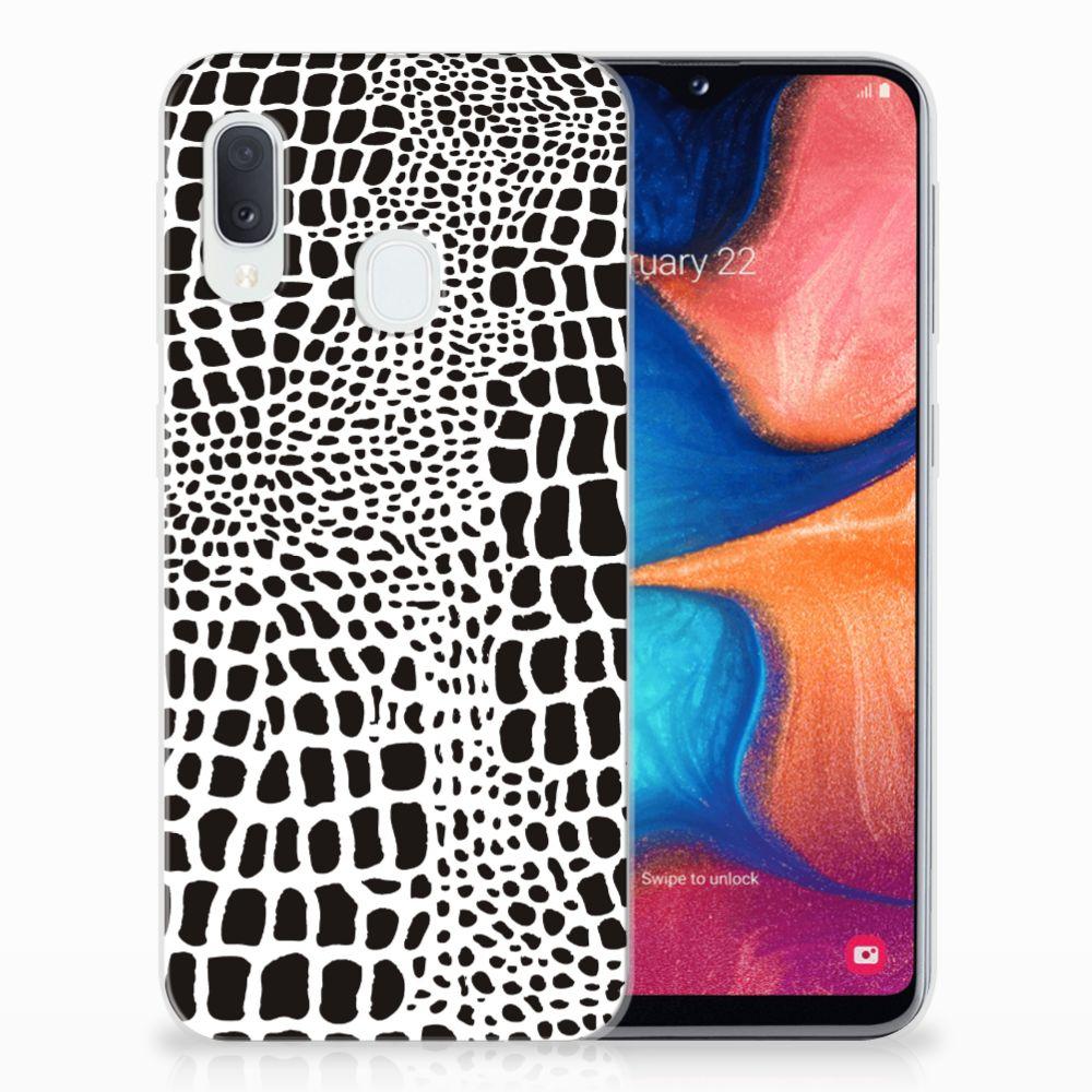 Samsung Galaxy A20e TPU Hoesje Slangenprint