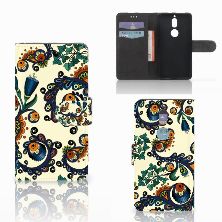Wallet Case Nokia 7 Barok Flower